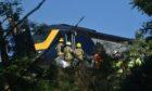A train derailed near Stonehaven.