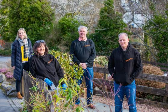 Sam Leighton, Julie Roy, Gordon Leighton and Gavin Price of Feldy Roo. Picture: Steve MacDougall.