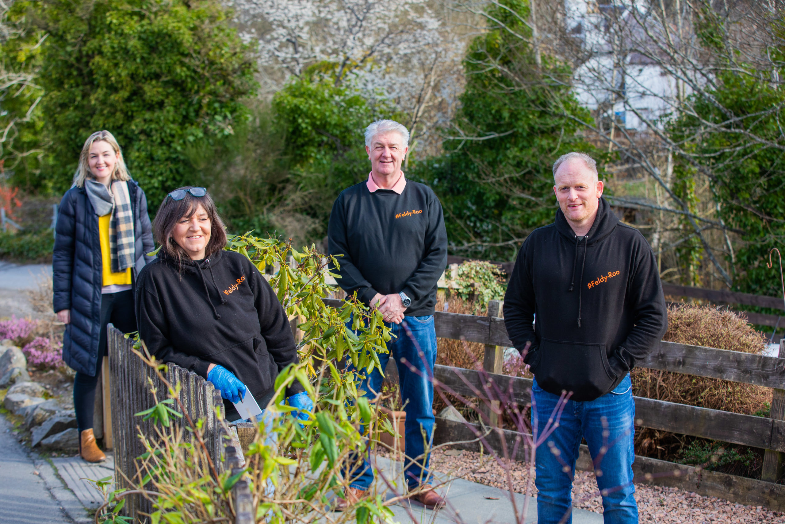 Sam Leighton, Julie Roy, Gordon Leighton and Gavin Price of Feldy Roo. Picture: Steve MacDougall.