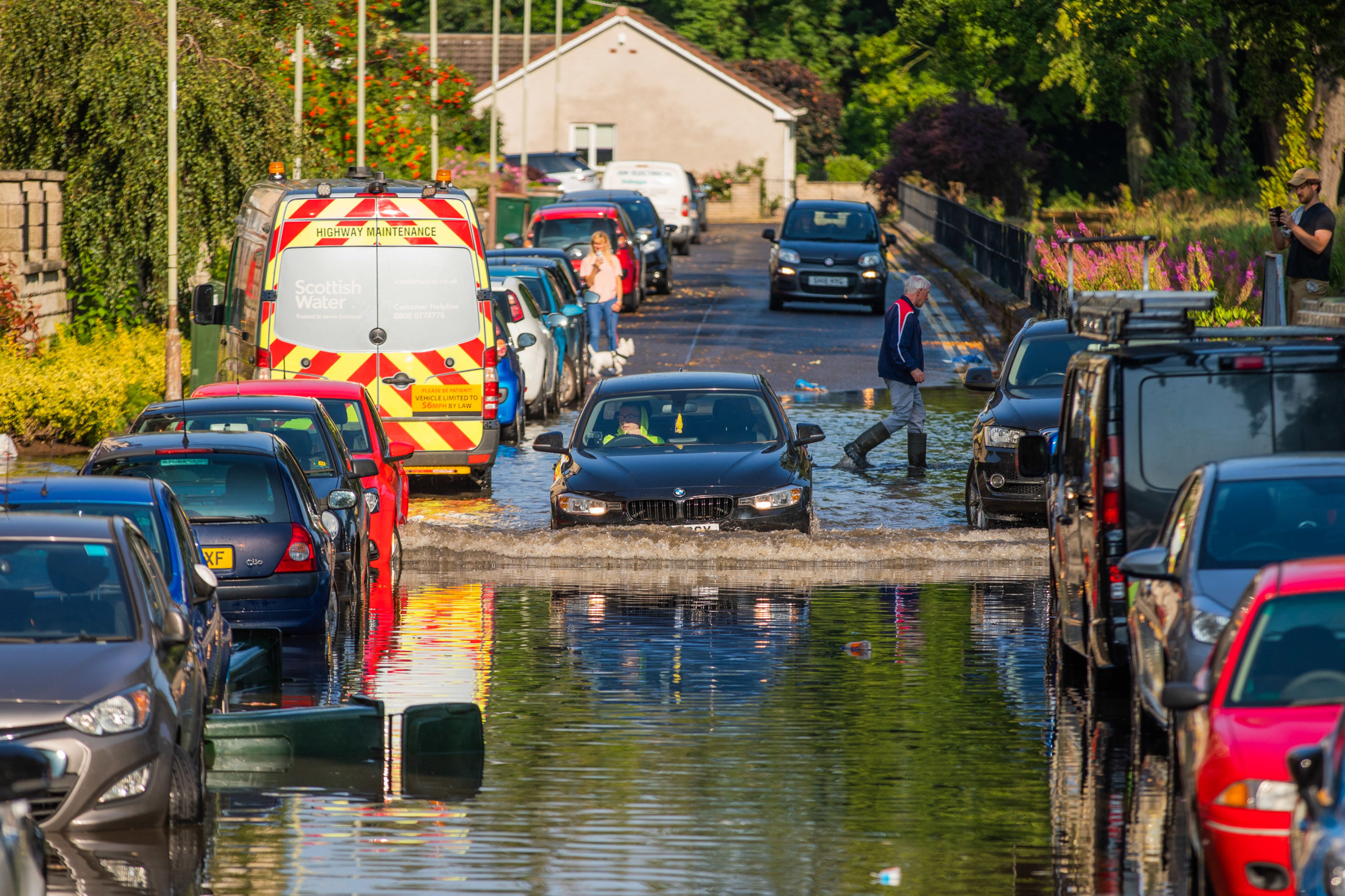 Areas of Perth suffered high levels of flooding. Picture: Steve MacDougall.