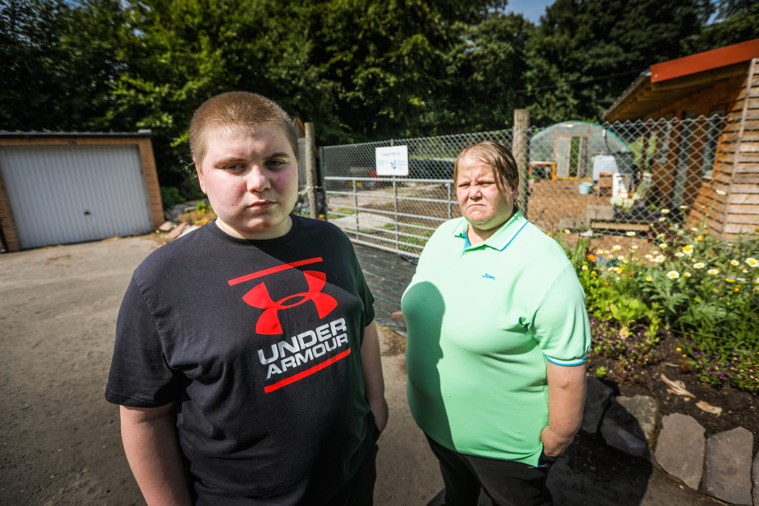 Jay Coram with his mum Kim, at the Market Gardens in Coupar Angus