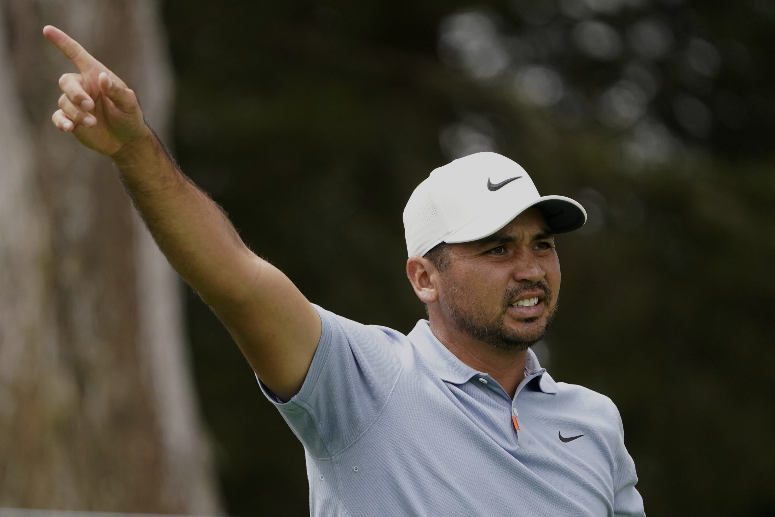 Jason Day of Australia, watches his tee shot on the sixth hole during the first round of the PGA Championship.