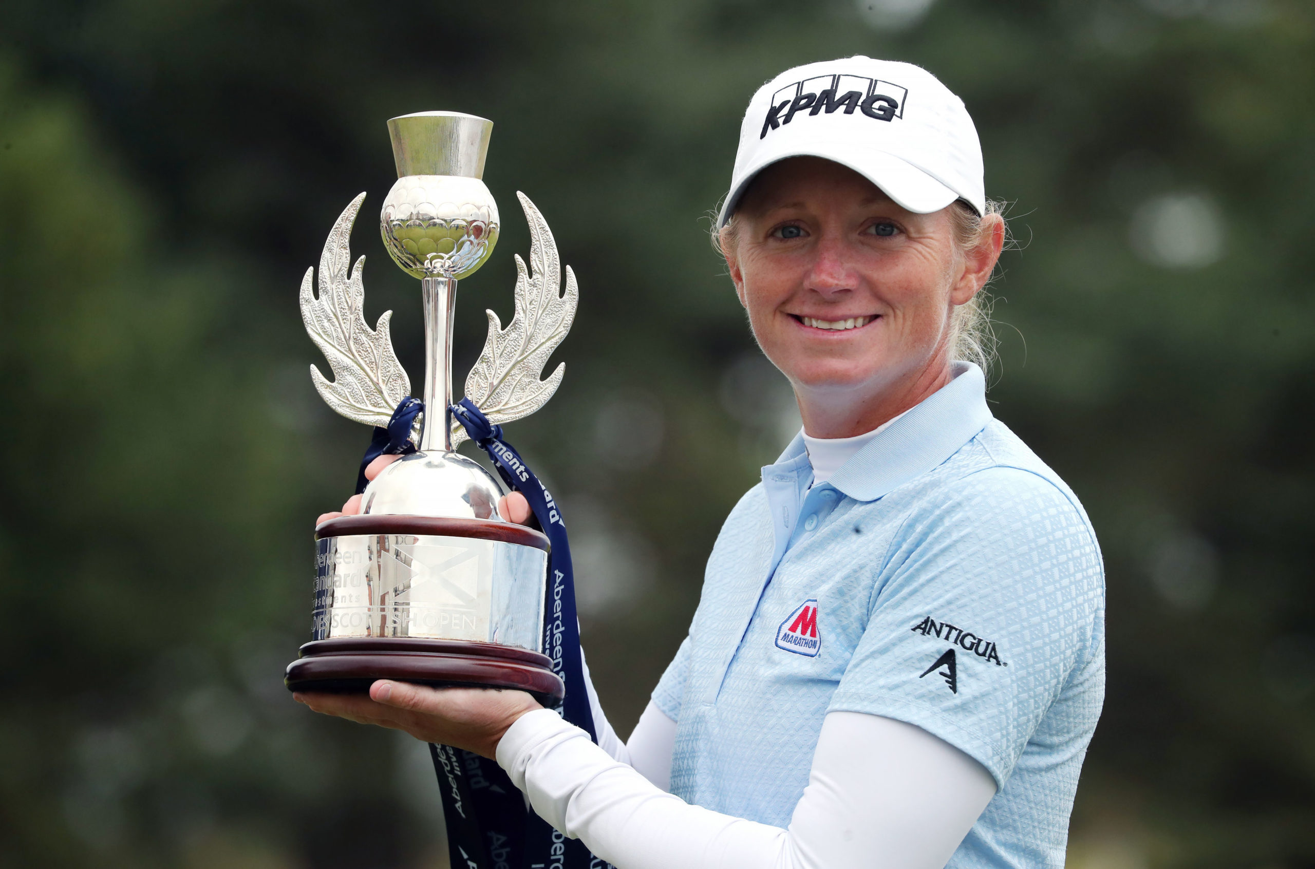 USA's Stacy Lewis with the Ladies Scottish Open trophy.