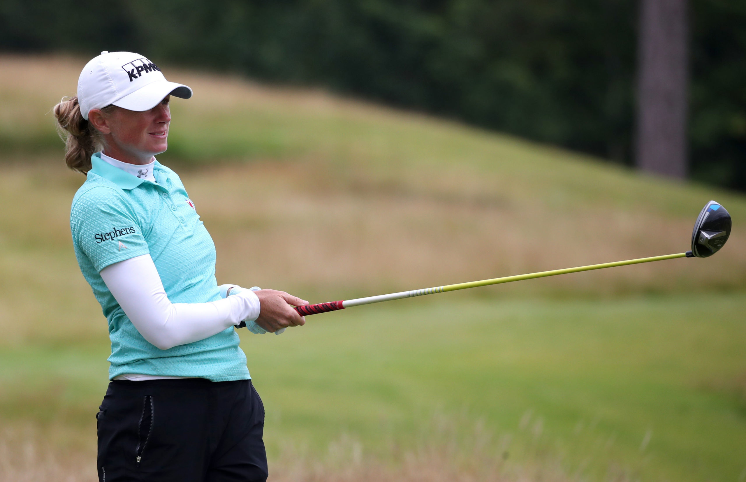 Stacy Lewis is co-leader of the Ladies Scottish Open at the halfway stage.