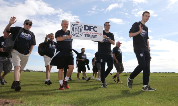 Dundee Football Club Community Trust did a sponsored walk from Arbroath to Broughty Ferry to raise funds.