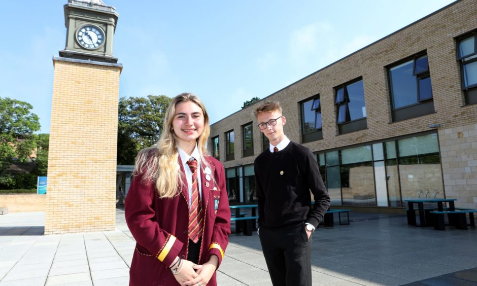 Lucy Young and Jamie Cruickshank at Harris Academy
