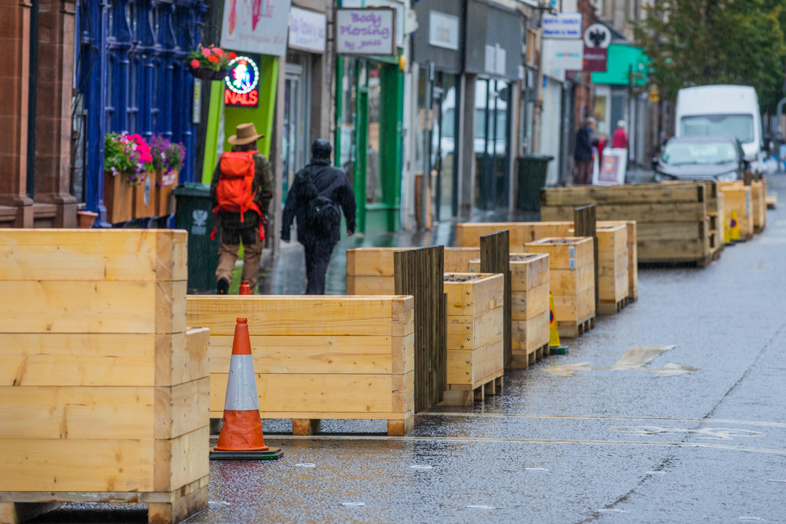 Changes to infrastructure on Perth High Street. Picture: Steve MacDougall.