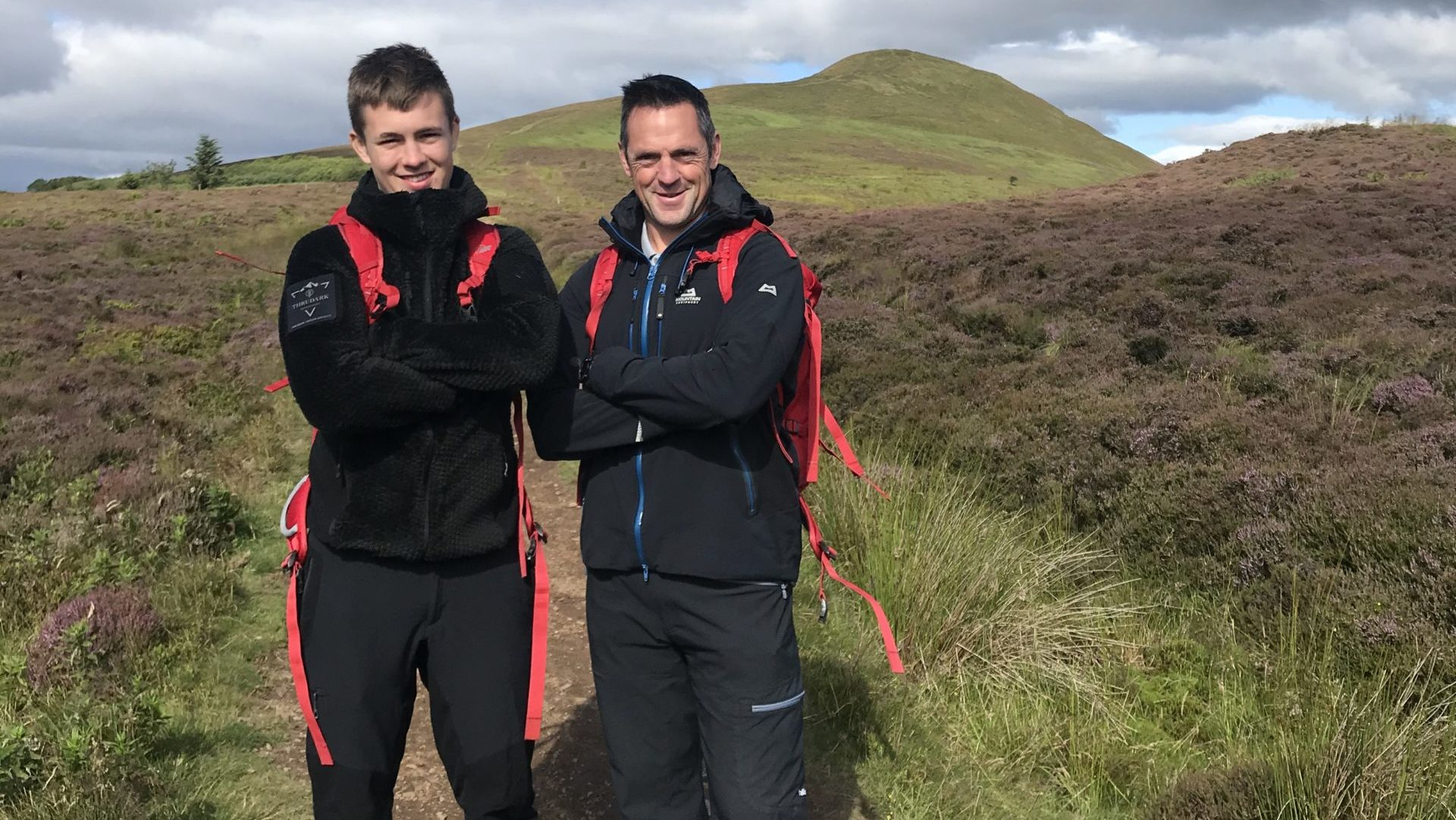 Ryan and Lee Powles during their training for the incredible challenge.
