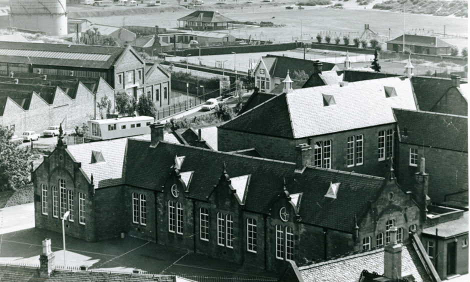 The former Invertay Primary School in Monifieth in September 1973.