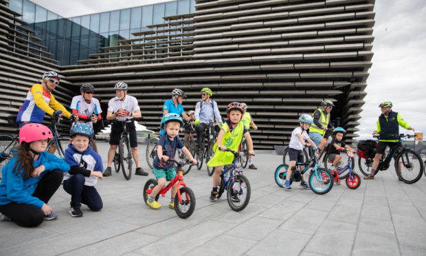 Participants of all ages joined the Cyclathon launch.