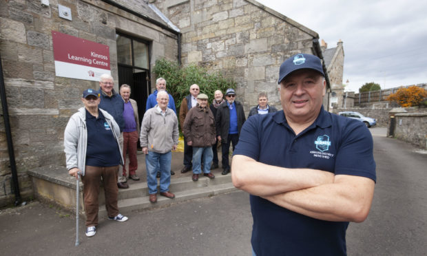 Roy Gilmour and other members of Kinross and District Mens Shed have helped build 4,500 visors during lockdown.