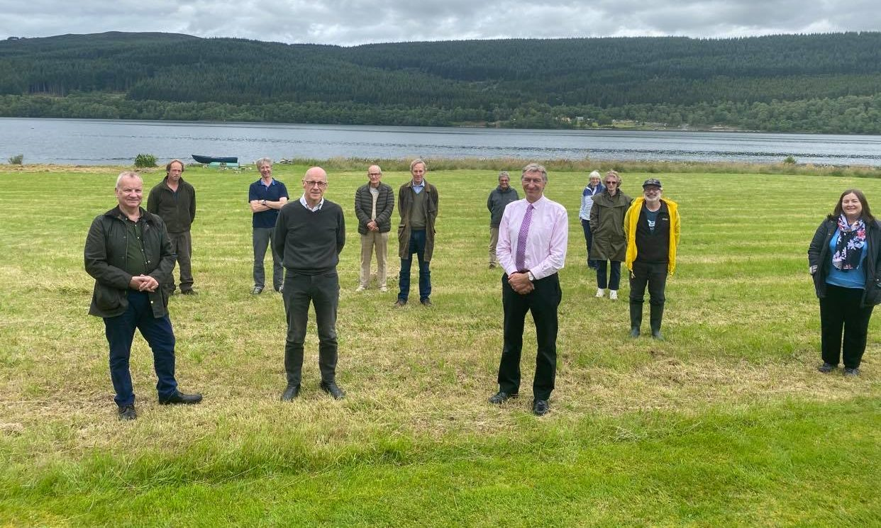 Concerned parties met at Loch Tummel on Wednesday.