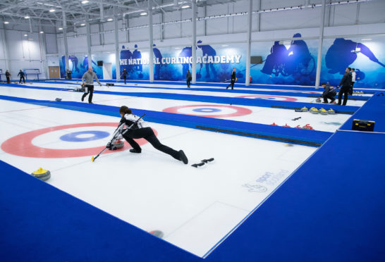 Eve Muirhead training at the National Curling Academy.