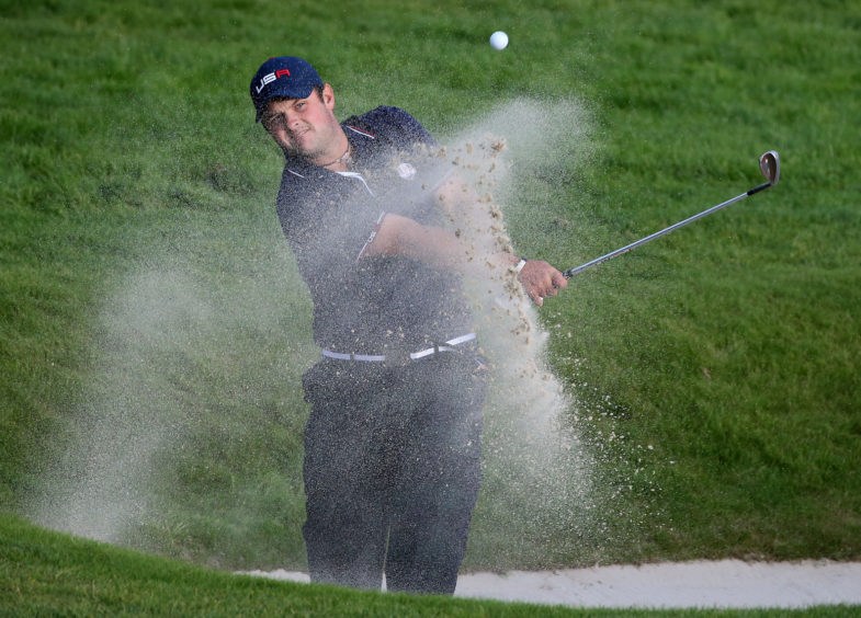 Patrick Reed at the Ryder Cup in 2014 at Gleneagles