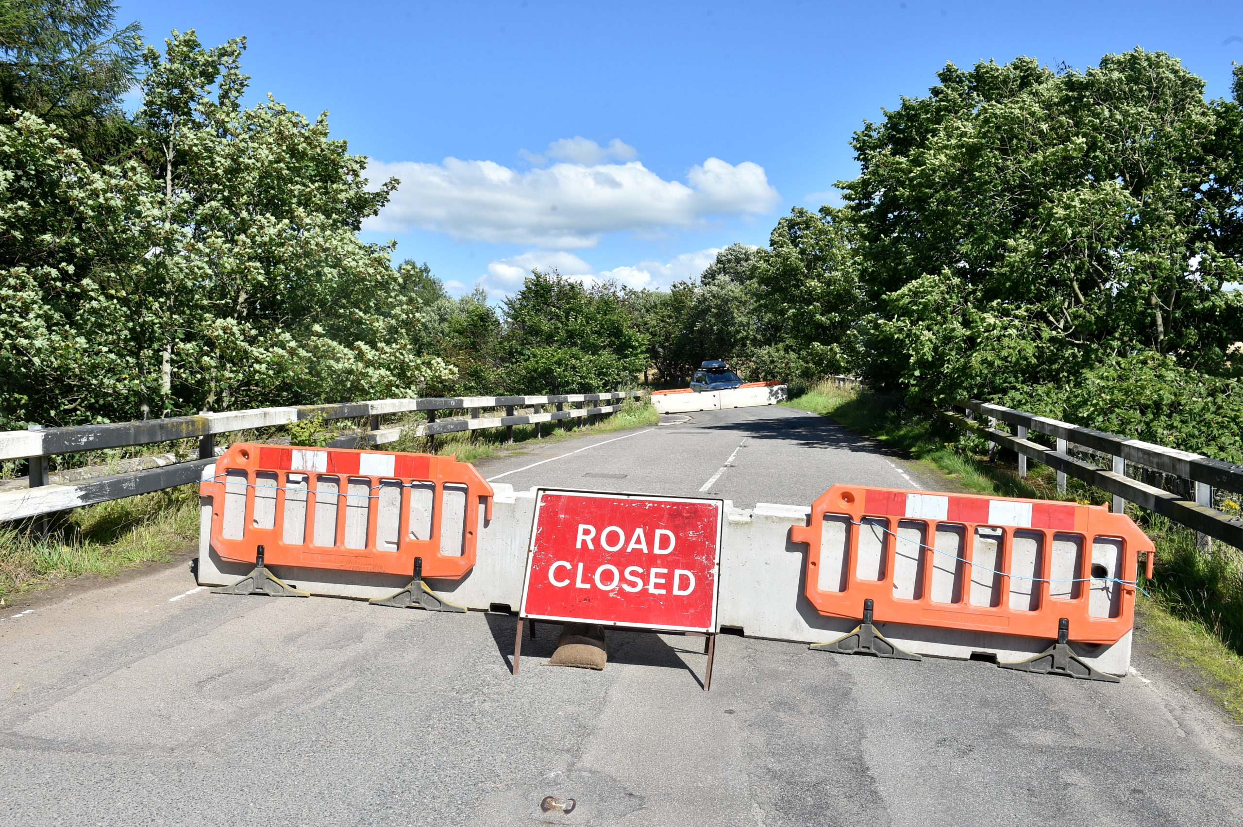 Oatyhill Bridge was closed by Aberdeenshire Council in the summer.