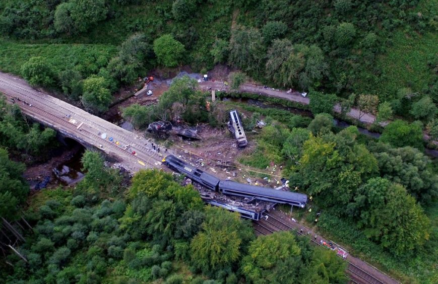 The scene of the fatal train crash.