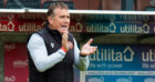 Micky Mellon looks on during Premiership opener
