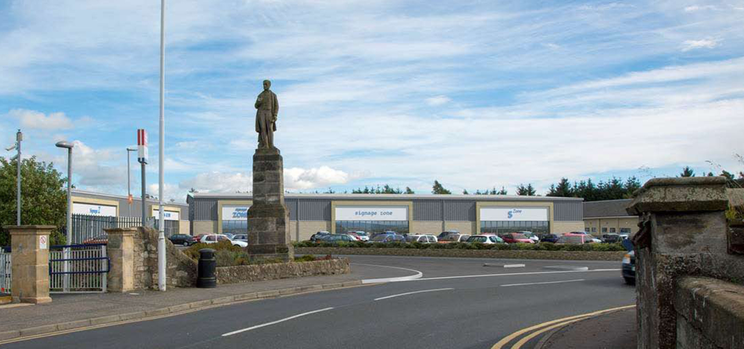 An artist's impression of how the finished retail park would look.