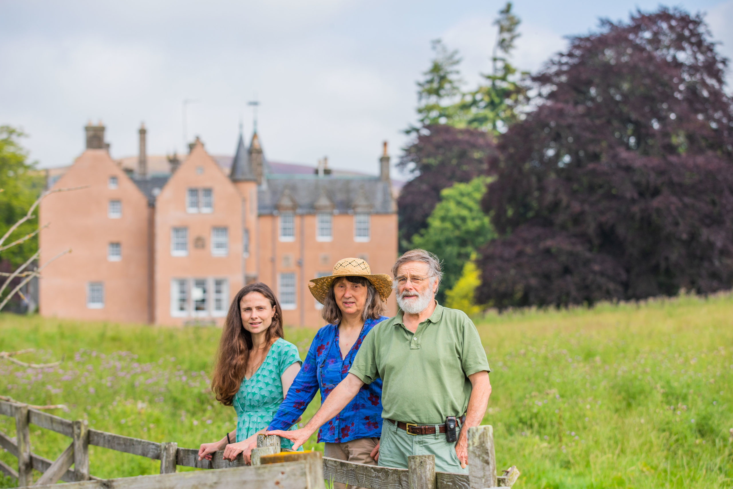Sophie Ramsay and parents Louise Ramsay and Paul Ramsay. Bamff House, Alyth