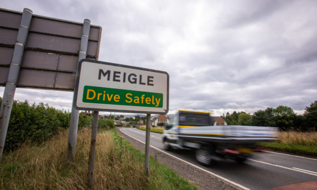 The accident took place on the A94 near Meigle.