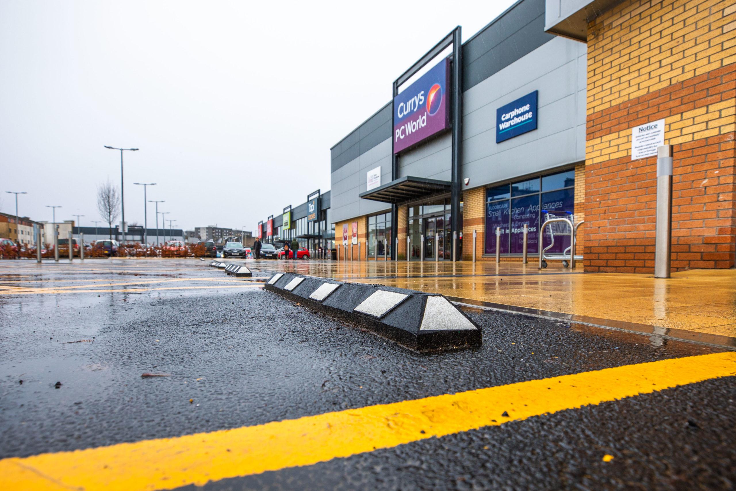 Raised ledges at St Catherine's Retail Park. Picture: Steve MacDougall.