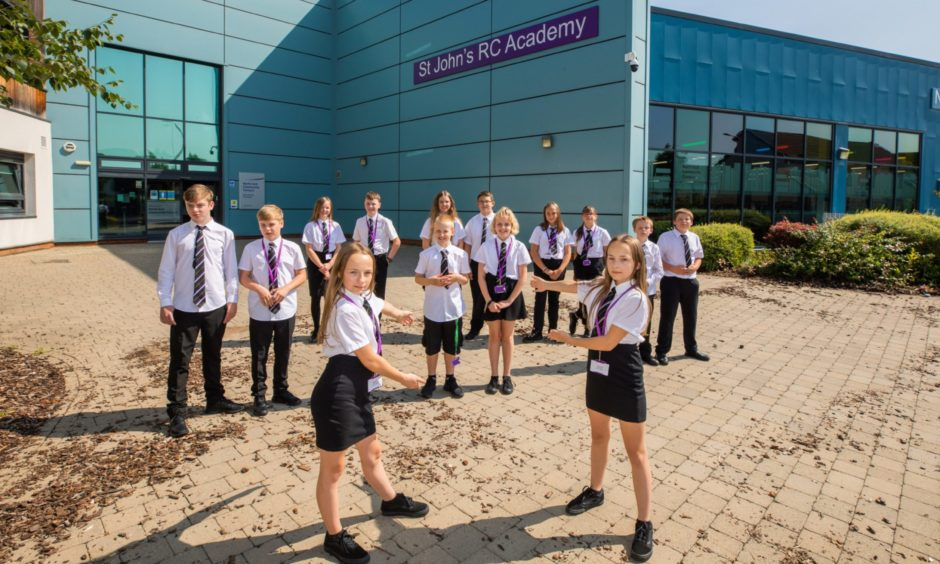 Seven sets of twins starting at S1 at St John's RC Academy in Perth.