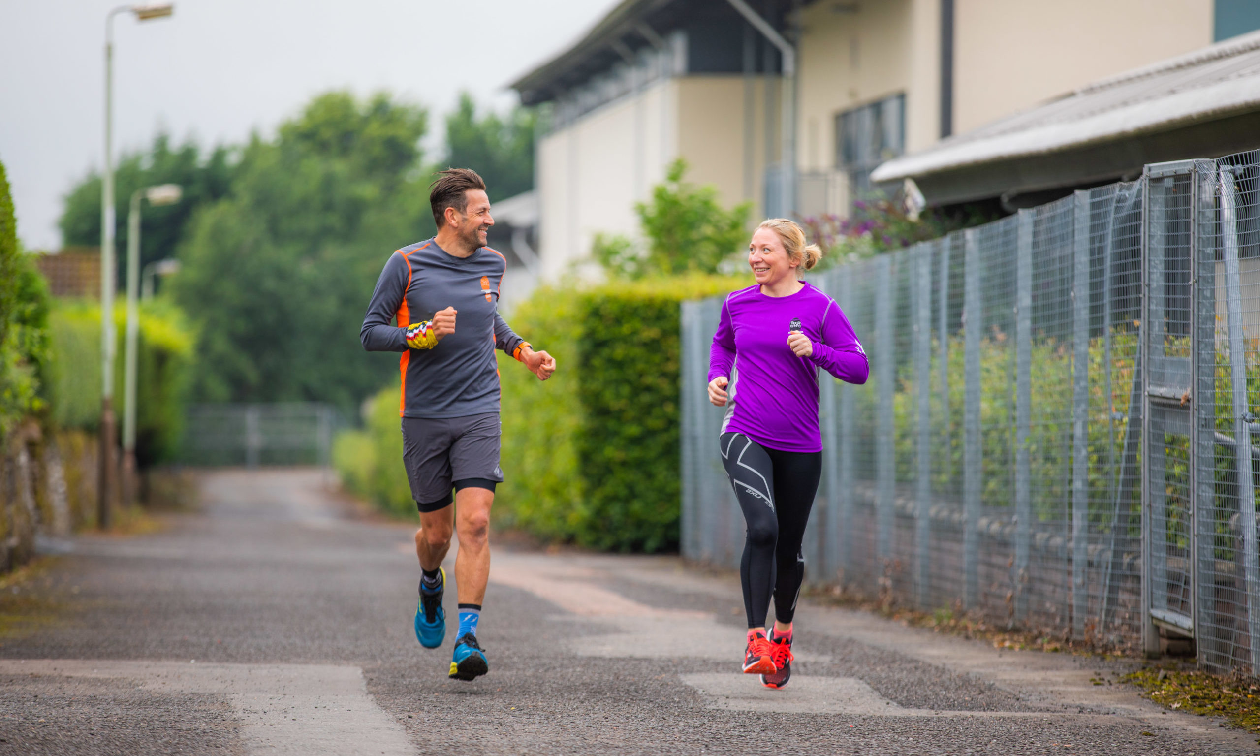 Auchterarder Running Festival organisers Fiona and Steven Watt are looking forward to going digital.