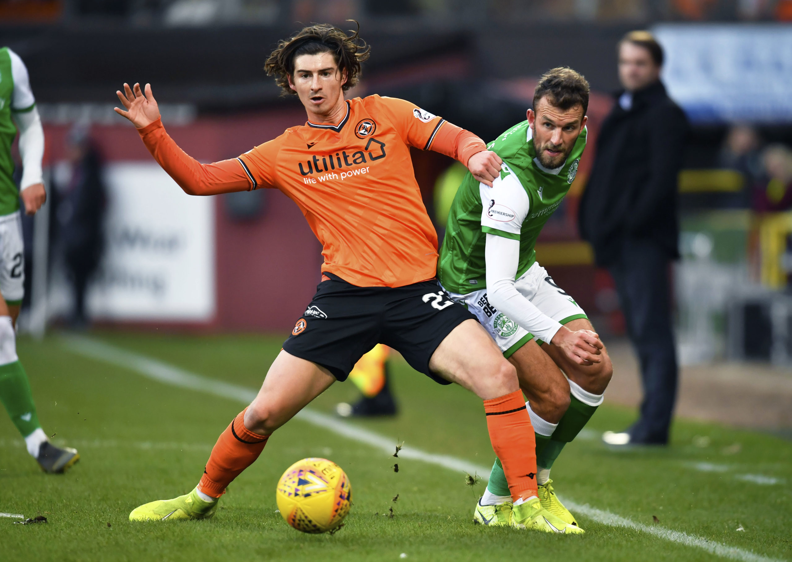 Ian Harkes in action for Tangerines against Hibs in the Scottish Cup last season.