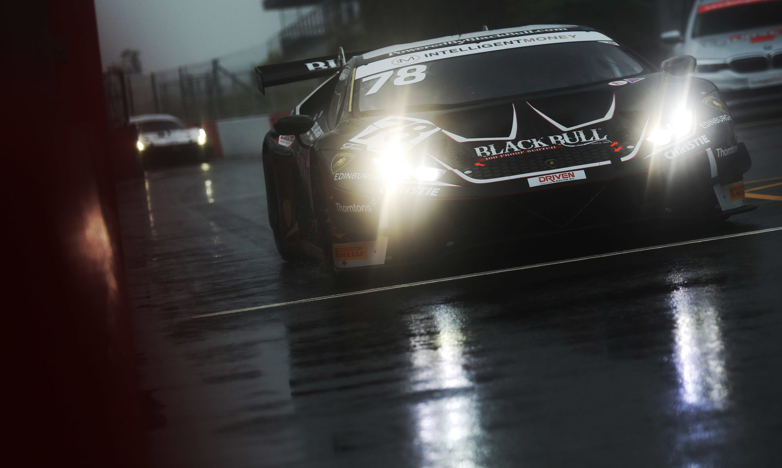 Donington Park conditions were gloomy for the latest British GT outing.