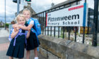 Emily Hughes, 5, and sister, Evie, 7, are excited to go to Pittenweem Primary School.