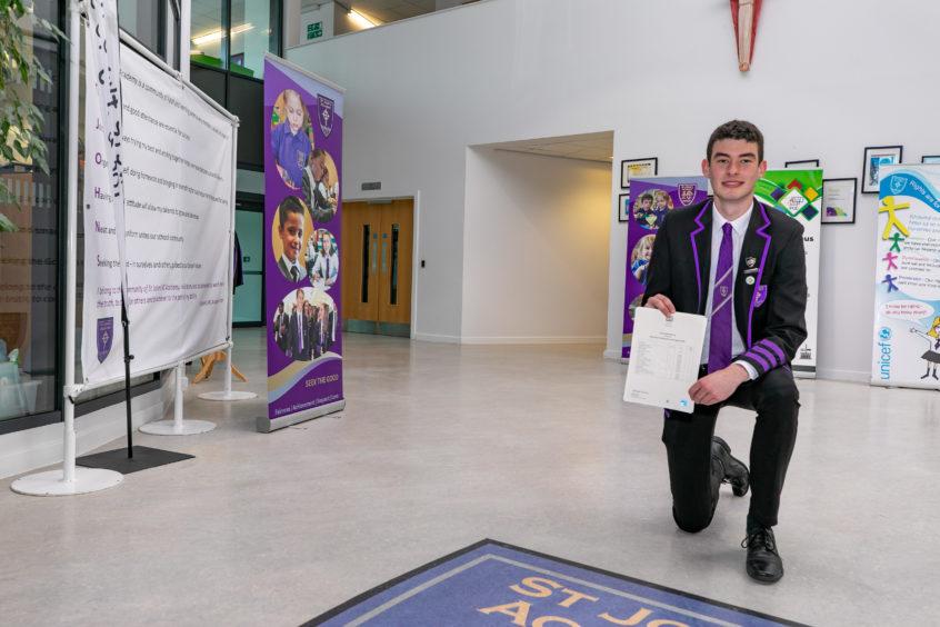 Grant Murray is head boy at St John's Academy.
