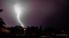 Lightning storm over Glenrothes on Tuesday night