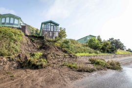 The Fife holiday park had to be evacuated after storms triggered two landslides.