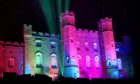 Scone Palace lit up pink for Lily Douglas