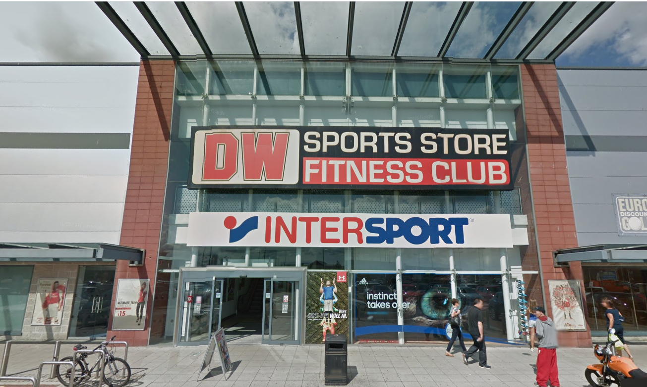 DW Sports store and fitness club in Dundee.