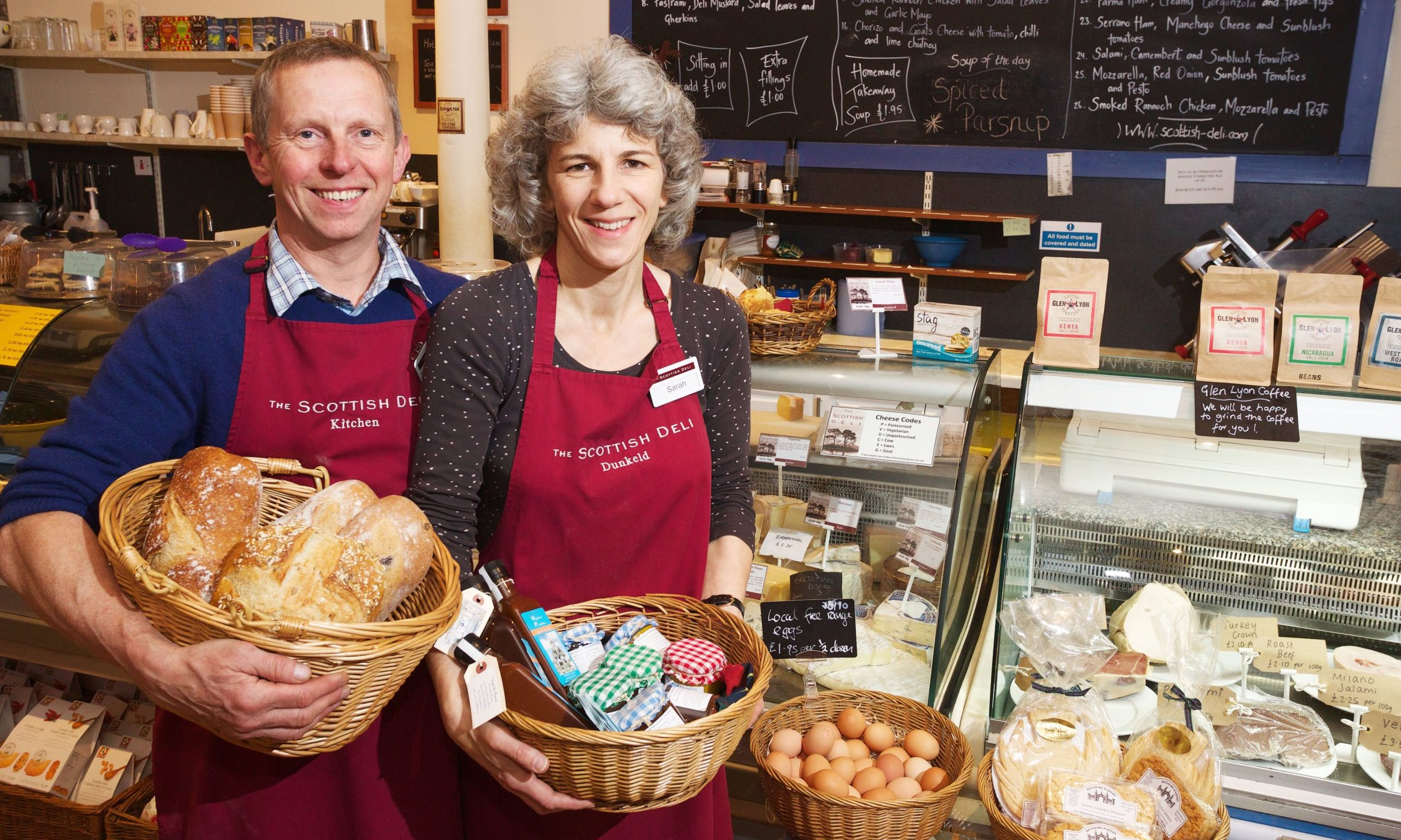 Simon Yearsley and Sarah Yearsley, owners of The Scottish Deli.