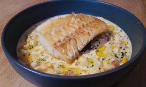 North Sea cod with smoked haddock chowder.