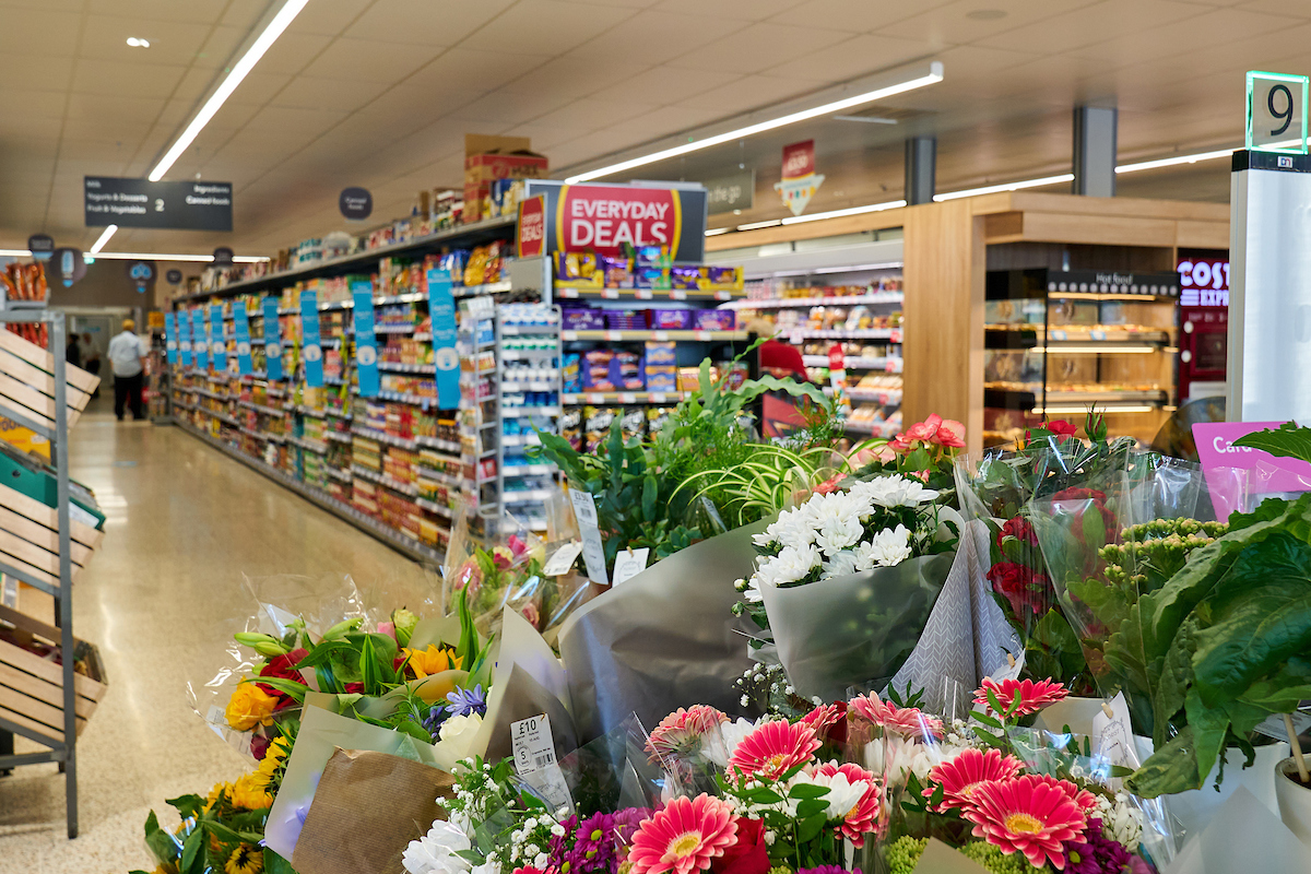 Stock image inside a Co-op
