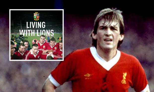 Scotland and Liverpool legend Kenny Dalglish and Living with Lions, inset