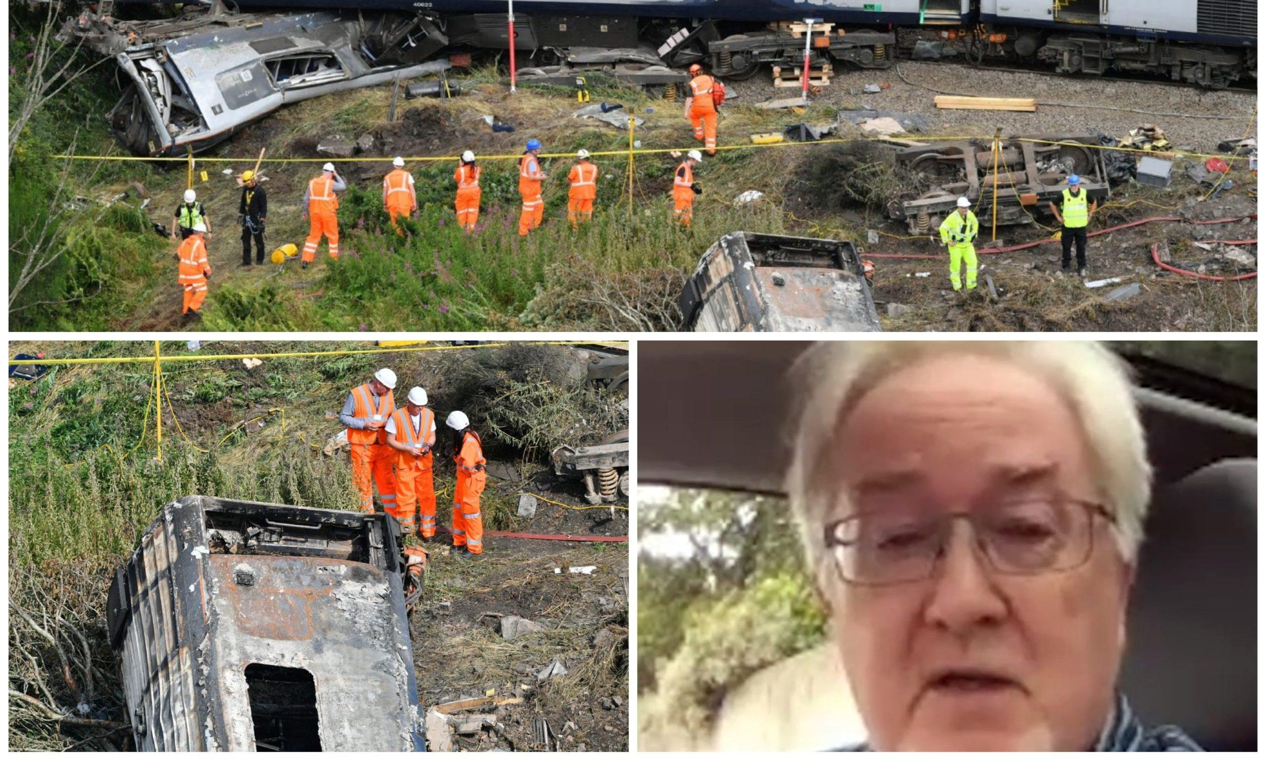 Railway Magazine editor Chris Milner, bottom right, speaking about the tragic train derailment near Stonehaven.