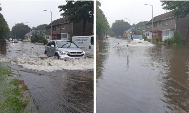 Flooding in Cowdenbeath.