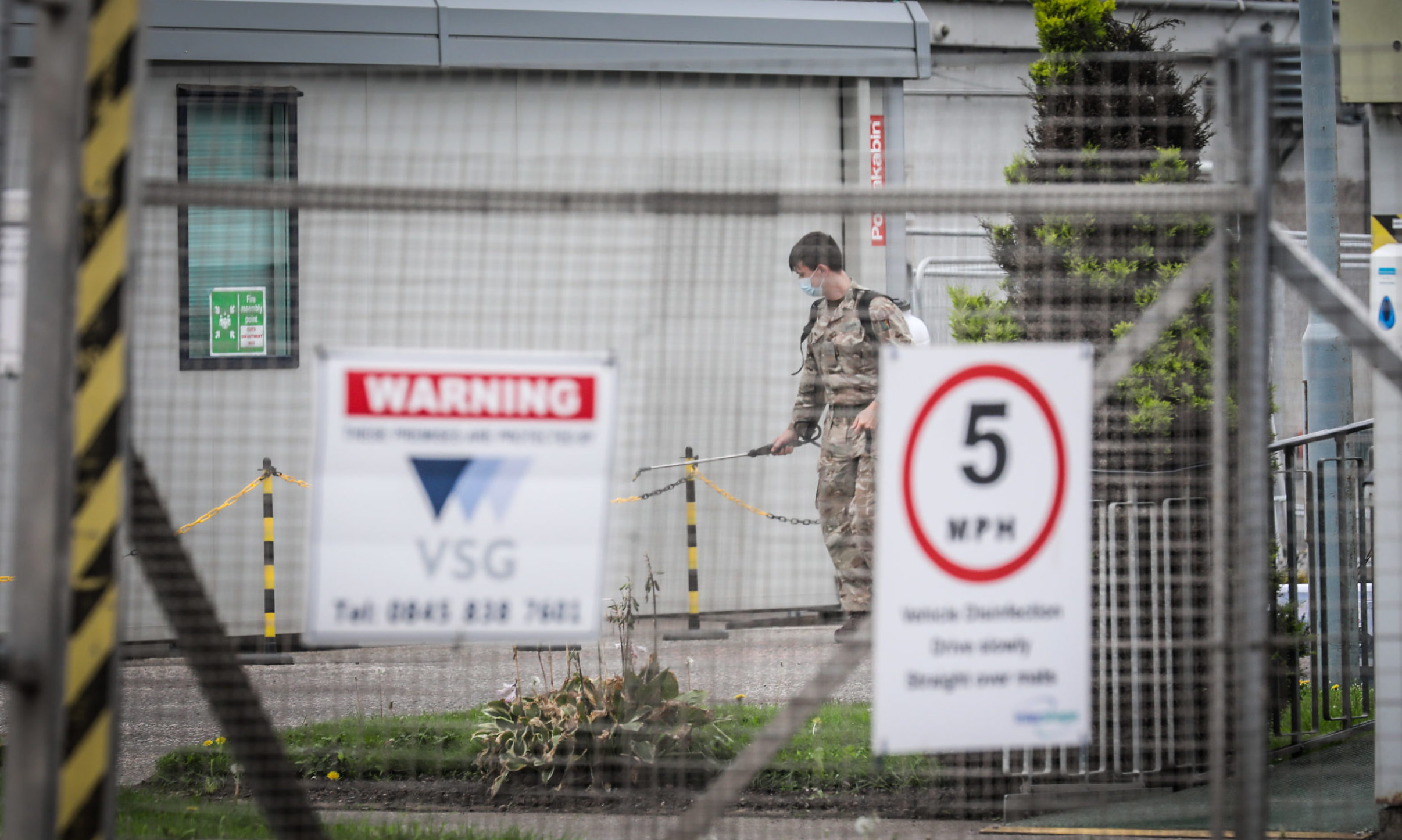 The Army was involved at the 2 Sisters chicken processing site outbreak clear up.