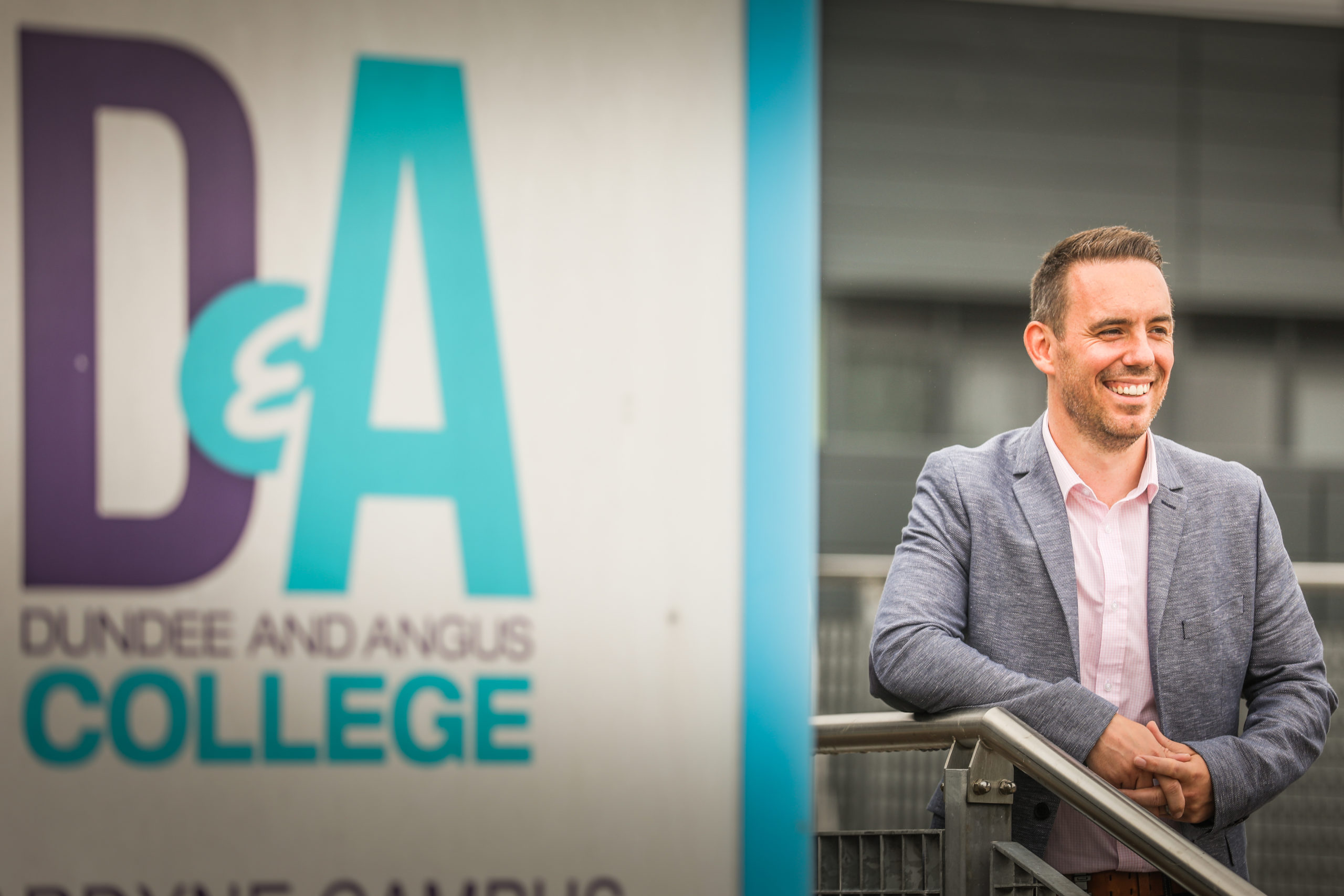New principal of Dundee and Angus College, Simon Hewitt.