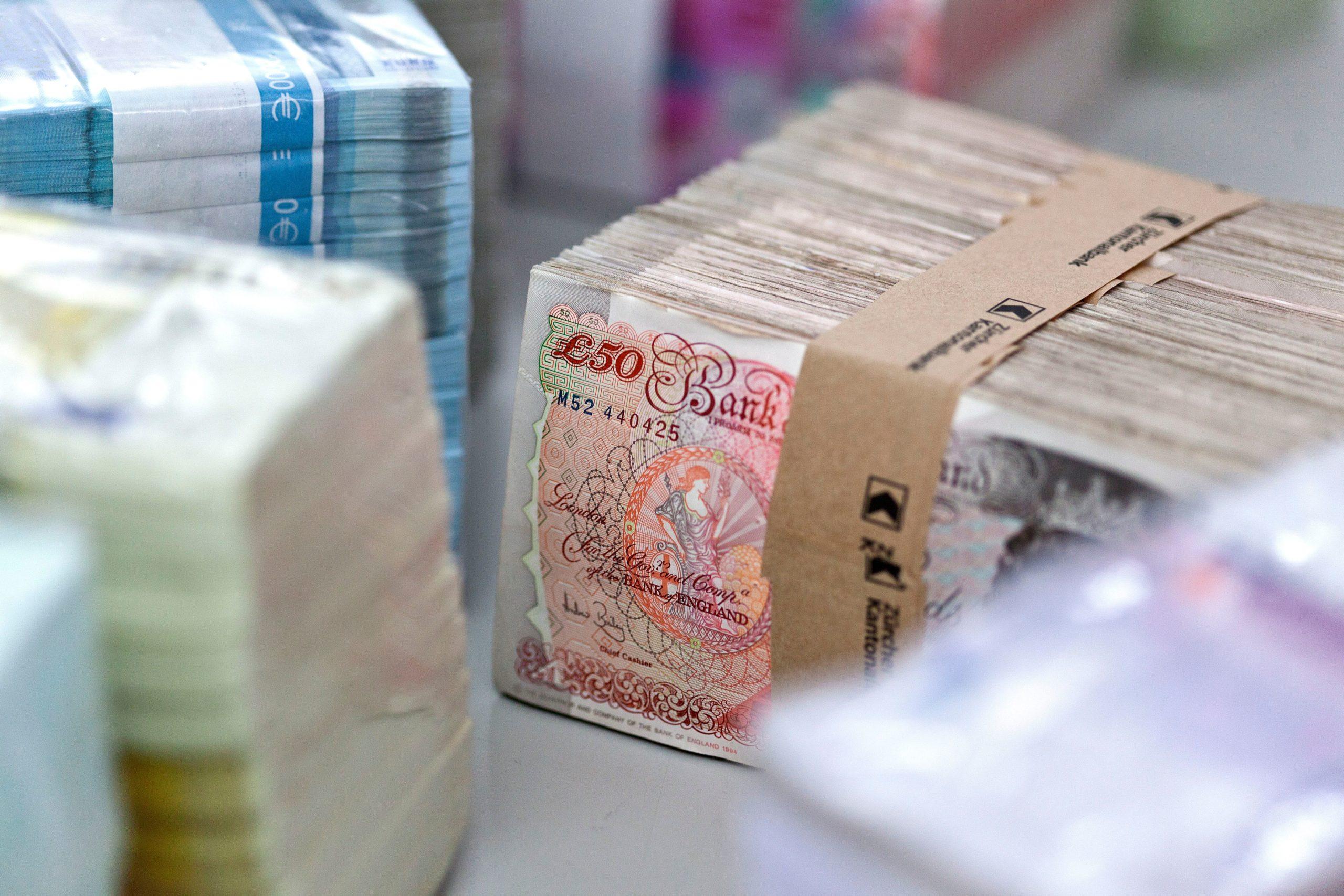 Bundles of bank notes
