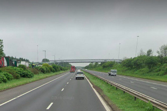 The M8 at Harthill. It is unclear why the dead man, who told officers he was travelling to Fife, was in that area at the time of the tragic accident.
