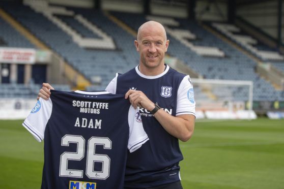 Charlie Adam pictured after signing for Dundee.