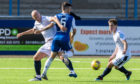 Charlie Adam in action for Dundee at Montrose.