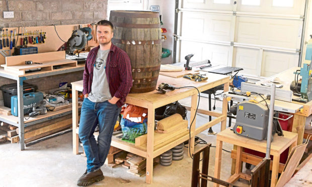 Cottage Two. Paul Kelman in his workshop. 14/06/18. Picture by KATH FLANNERY