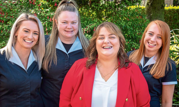 At Your Service staff Jenna Patterson , Danielle Murray, Kelly Fairweather and Claire Percy