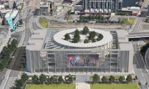A concept design for the Dundee esport arena.